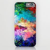 Welcome To Utopia Bold Rainbow Multicolor Abstract… iPhone