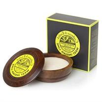 Crabtree & Evelyn West Indian Lime Shave Soap in Wooden Bowl