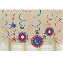 Western Swirls and Danglers Party Decoration