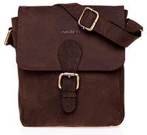 LEABAGS Weston genuine buffalo leather messenger bag in