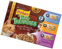 Friskies Wet Cat Food, Tasty Treasures, 3-Flavor Variety