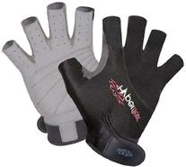 Hyperflex Wetsuits Men's 3/4 Finger Glove, Black, Large -