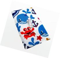 Whales Crabs and Anchors Switch Plate Cover