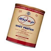 Solgar Whey To Go Protein Powder, Natural Chocolate Flavor,