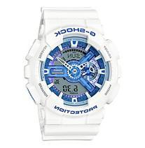 G-Shock® Men's XL White Analog-Digital Watch with Blue