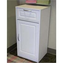 4D Concepts White Bathroom Base Cabinet with One Door