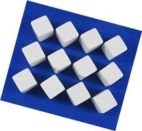 White D6 Blank 16mm Dice Set with Stickers