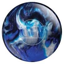White Dot Bowling Ball- Blue/Black/Silver