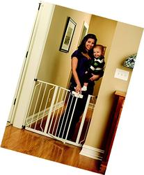 White Regalo Easy Step Walk Thru Gate, Baby Toddler Pet