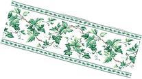 White Green Ivy Vine Wallpaper Border