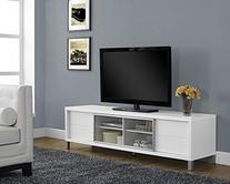Monarch Specialties I 2537, TV Console, Euro Style, White,