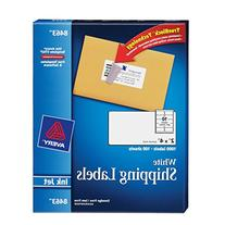 Avery White Mailing Labels for Ink Jet Printers, 2 x 4 Inch