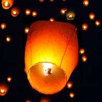 Best Choice Products®  White Paper Chinese Lanterns Sky Fly