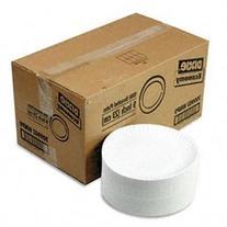 White Paper Plates, 9 Diameter, 1,000 Plates per Carton