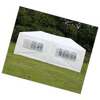 Palm Springs 10 X 20 White Party Tent Gazebo Canopy with