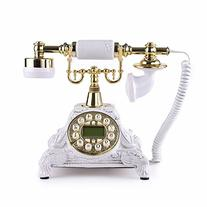 LNC White LNC Retro Vintage Antique Style Push Button Dial