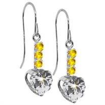 1.78 Ct White 925 Sterling Silver Earrings Made With