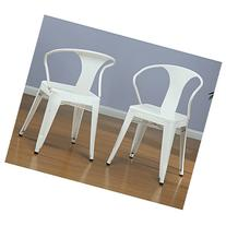 Metro Shop White Tabouret Stacking Chairs