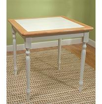 TMS Natural White Tile Top Table