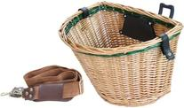 Sunlite Wicker QR Basket, Honey/Green