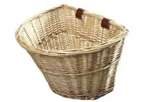 ProSource Wicker Front Handlebar Bike Basket Cargo