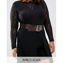 ASOS CURVE Wide 80's Animal Waist Belt