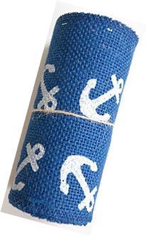 5.5 Inches Wide 10 Feet  Long Nautical Burlap Craft Ribbon