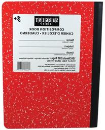 Sargent Art 100-Sheet Wide Ruled Composition Book, Red