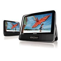 """9"""" Philips Widescreen Portable Black Travel Car DVD Player w"""