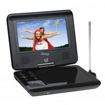 "Supersonic 7"" Widescreen Portable DVD Player with 270 Degree"