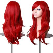 emaxdesign wigs 28 inch wavy curly cosplay wig with free wig - Sally Nightmare Before Christmas Wig