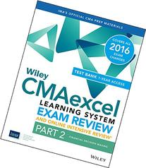 Wiley CMAexcel Learning System Exam Review 2016 and Online