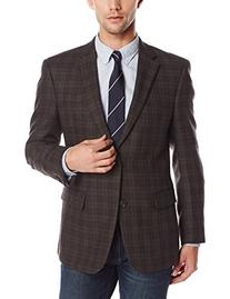 Tommy Hilfiger Men's Willow Lambswool Blazer, Burgundy Plaid