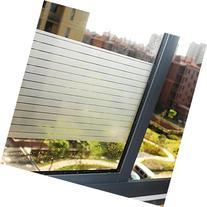 Coavas Window Film White Stripes Static Window Cling Tint