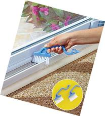 Rienar 2pcs Window Track Cleaning Brushes, Hand-held Groove