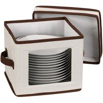 Household Essentials Window Vision Dessert Plate/Bowl Chest