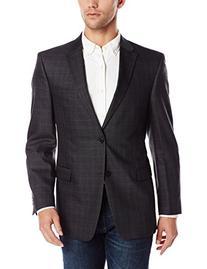 Tommy Hilfiger Men's Windowpane Jacket, Grey, 40 Long