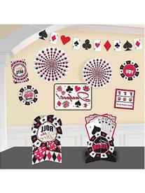 Amscan Casino Party Decorating Kit , Multi Color, 15.6 x 10.