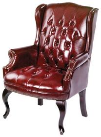 Boss Office Products B809-BY Wingback Traditional Guest