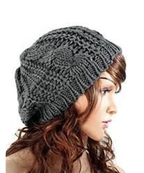 New Winter fashion Women Beret Braided Baggy Beanie Crochet