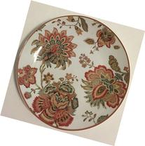 222 Fifth Winter Floral Dessert/Appetizer Plates Set of 4