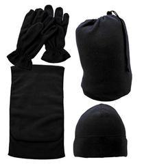 Simplicity Men Women Winter Scarf Hat Cap Beanie Gloves 3pcs