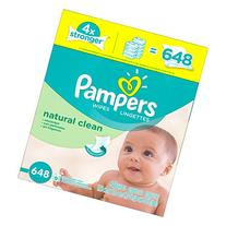 Pampers Baby Wipes Natural Clean  9X Refill, 648 Count