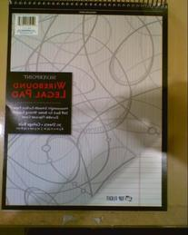 Silverpoint Top Wire Legal Pad, College Rule, Heavy Back, 8.