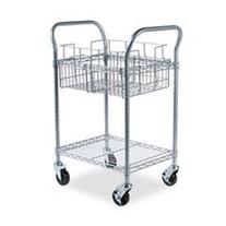 Safco Wire Mail Cart, 600lbs, 18-3/4w x 26-3/4d x 38-1/2h,