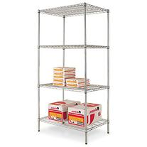 Alera Wire Shelving Starter Kit, 4 Shelves, 36w x 24d x 72h