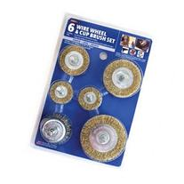 Mibro Wire Wheel and Cup Brush Set - 6 Pieces