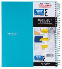 Five Star Wirebound Notebook, 3-Subject, 150 College-Ruled