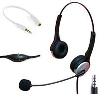 Voistek Wired Cell Phone Headset with Noise Canceling Boom