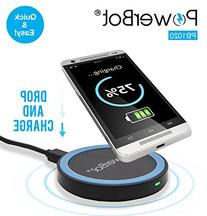 Wireless Charger, Qi Compliant Fast Charging Pad , PowerBot